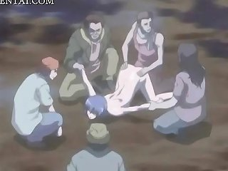 IcePorn Sex Video - Anime Babe Gangbanged And Bukkaked Outdoor